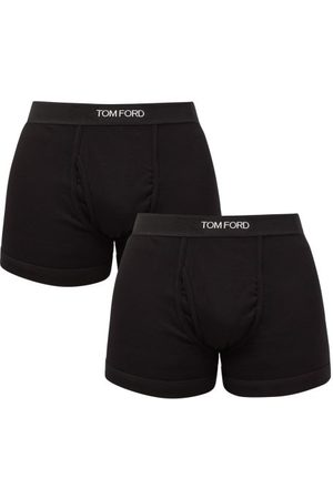 Tom Ford Men Briefs - Pack Of Two Cotton-blend Boxer Briefs - Mens