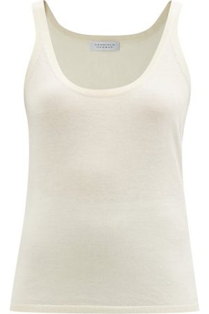 GABRIELA HEARST Lother Cashmere-jersey Tank Top - Womens - Ivory