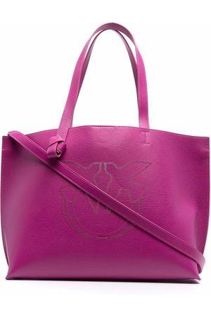 Pinko Logo-embroidered tote bag