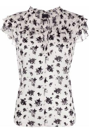 Pinko Women Blouses - Floral-print short-sleeved blouse