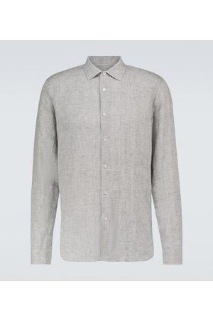 Orlebar Brown Men Long sleeves - Giles linen long-sleeved shirt