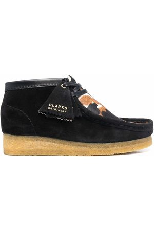 Clarks Women Loafers - Wallabee cow-print suede shoes