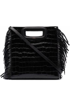 Maje Women Tote Bags - Crocodile-embossed leather M bag
