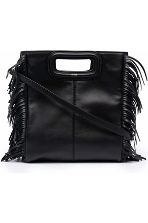 Maje M leather tote bag