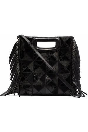 Maje Fringe-detail leather tote bag