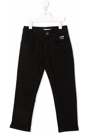 MSGM Kids Girls Jeans - Embroidered-logo jeans