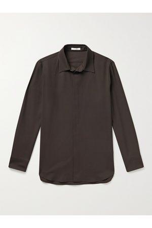 The Row Men Casual - Zachary Virgin Wool-Twill Shirt