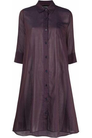 Emporio Armani Two-tone striped beach dress