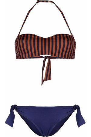 Emporio Armani Women Bikinis - Striped colour-block bikini