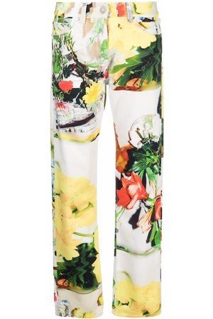 Msgm Abstract-print straight-leg trousers