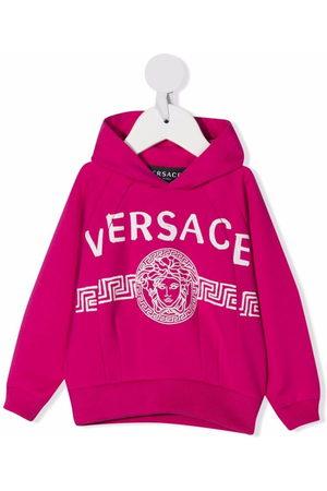 VERSACE Hoodies - Logo-print cotton hoodie