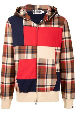 A Bathing Ape Check colour-block sweatshirt