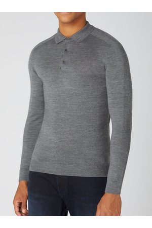 Remus Long-Sleeved Knitted Polo Shirt