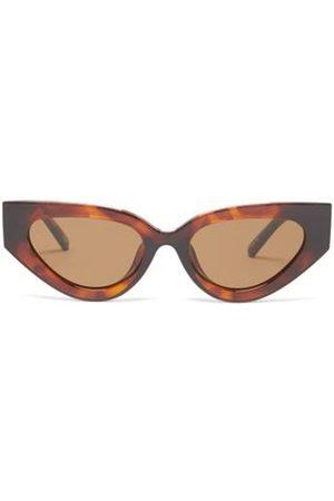 Le Specs Women Sunglasses - Aphrodite Cat-eye Tortoiseshell-acetate Sunglasses - Womens