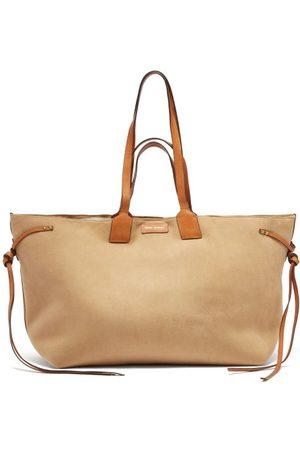 Isabel Marant Women Tote Bags - Wydra Shearling-lined Suede Tote Bag - Womens - Multi