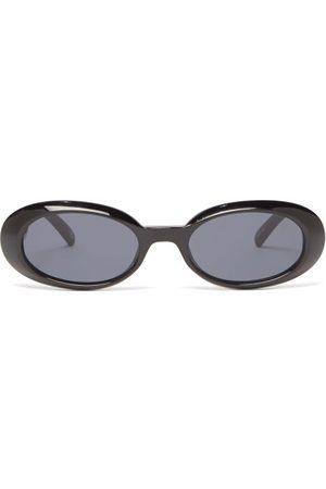 Le Specs Work It Oval Acetate Sunglasses - Womens