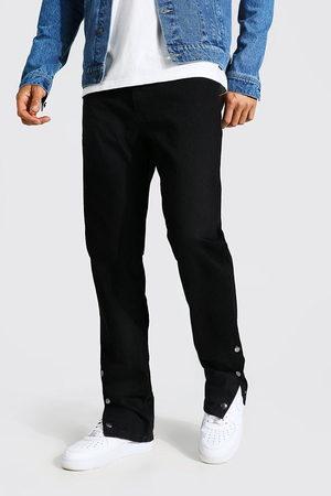 Boohoo Men Straight - Mens Tall Straight Leg Popper Hem Jean