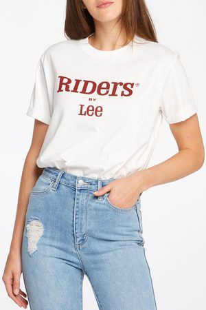 Cotton On Women Short Sleeve - Riders By Lee Womens Relaxed Tee - Bone