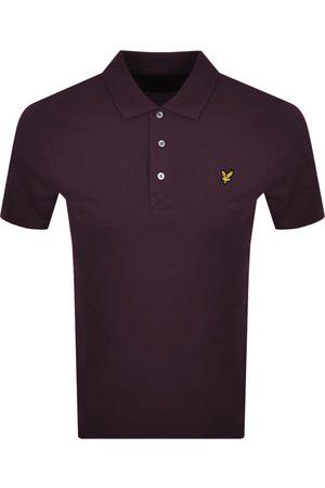 Lyle & Scott Men Polo Shirts - Short Sleeved Polo T Shirt Burgundy