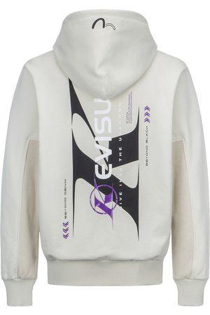 Evisu Men Sweatshirts - Color-Block Logo Print Hooded Sweatshirt