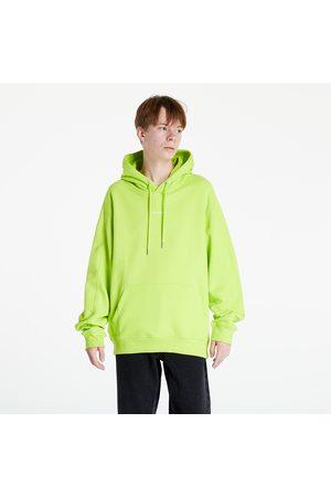 Calvin Klein Micro Branding Hoodie Acid Lime