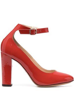 Tila March Women Heels - Side-buckle leather pumps