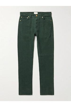 Sid Mashburn Garment-Dyed Cotton-Corduroy Trousers