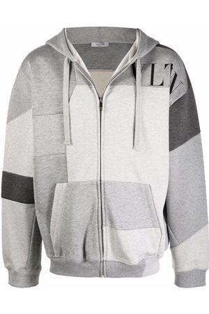 VALENTINO VLTN patchwork zip-up hoodie