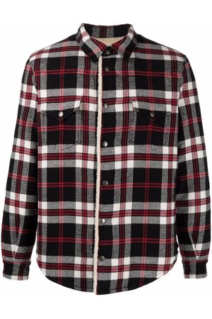 Saint Laurent Oversize Western faux shearling-lined jacket