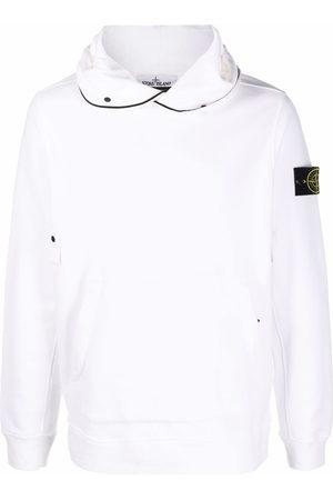 Stone Island Contrast-piping badge hoodie