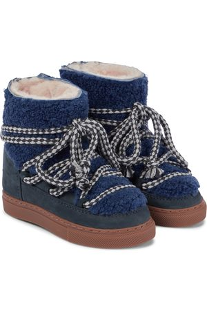 INUIKII Kids Girls Boots - Sneaker shearling and suede boots