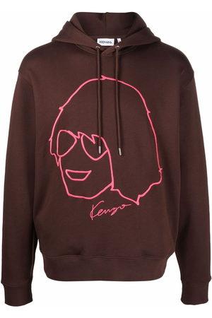 Kenzo Men Hoodies - Sketch-print cotton hoodie