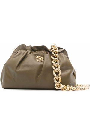 Pinko Gathered leather tote bag