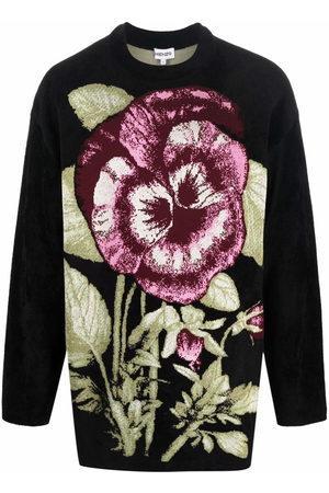Kenzo Men Sweaters - Floral jacquard oversized jumper
