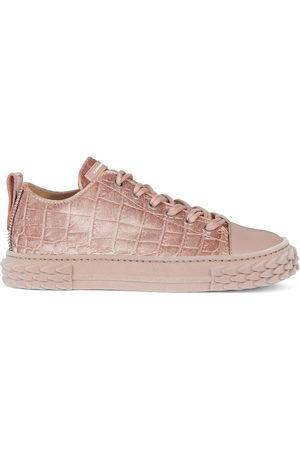 Giuseppe Zanotti Women Sneakers - Blabber velvet low-top sneakers