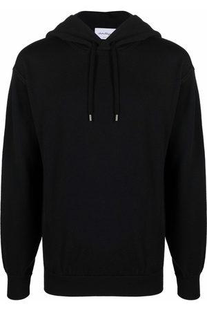 Salvatore Ferragamo Men Hoodies - Long-sleeved wool hoodie