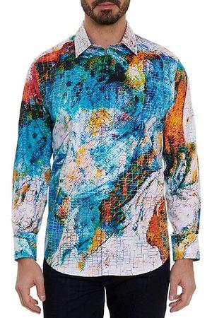 Robert Graham Men Casual - Watercolor Grid Sport Shirt