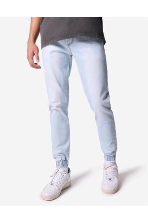 Hallensteins Brothers Men Tapered - Tapered Fit Denim Joggers in Light