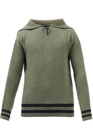Maison Margiela Men Sweaters - Sailor-collar Wool Sweater - Mens