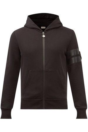 Moncler Logo-patch Zipped Cotton-jersey Hooded Sweatshirt - Mens