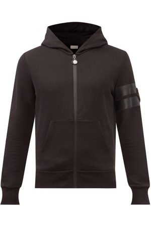 Moncler Men Hoodies - Logo-patch Zipped Cotton-jersey Hooded Sweatshirt - Mens