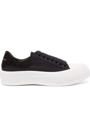 Alexander McQueen Women Sneakers - Deck Canvas And Suede Trainers - Womens - /