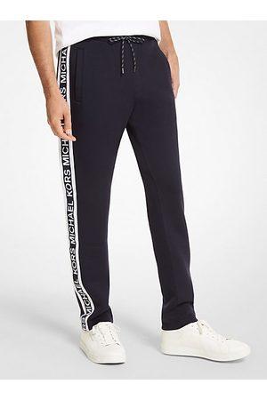 Michael Kors MK Logo Tape Scuba Track Pants - Drk Midnight - Michael Kors