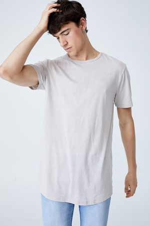Cotton On Curved Hem T-Shirt - Smoke burnout
