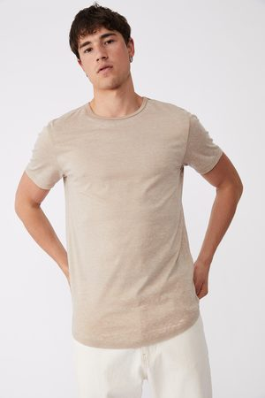Cotton On Curved Hem T-Shirt - Gravel stone burnout