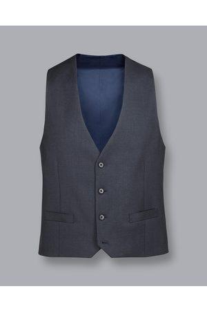 Charles Tyrwhitt Men Waistcoats - Busiess Suit Textured Wool Waistcoat - Steel Size 36R by Charles Tyrwhitt