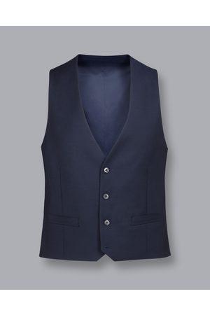 Charles Tyrwhitt Men Waistcoats - Busiess Suit Textured Wool Waistcoat - avy Size 36R by Charles Tyrwhitt