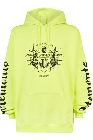 Vetements Men Hoodies - Label printed hoodie