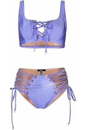 Noire Swimwear Lace-up two-piece bikini