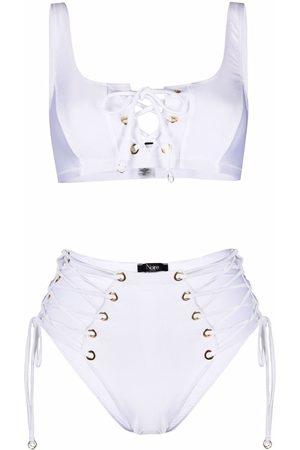 Noire Swimwear Women Bikinis - Lattice-strap bikini set